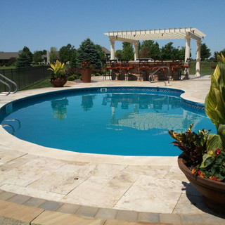Travertine with a Resort feel