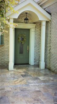 Travertine entrance