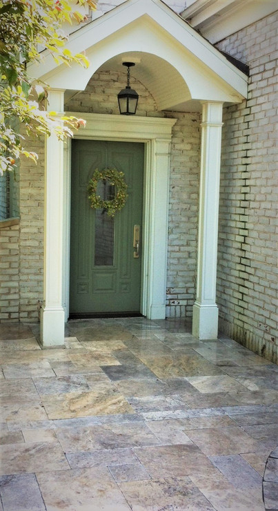 Travertine entrance