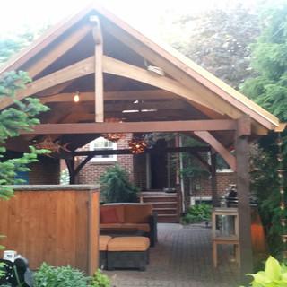 Metal roof pergola