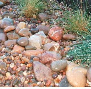 Illinois river rock and cobbles