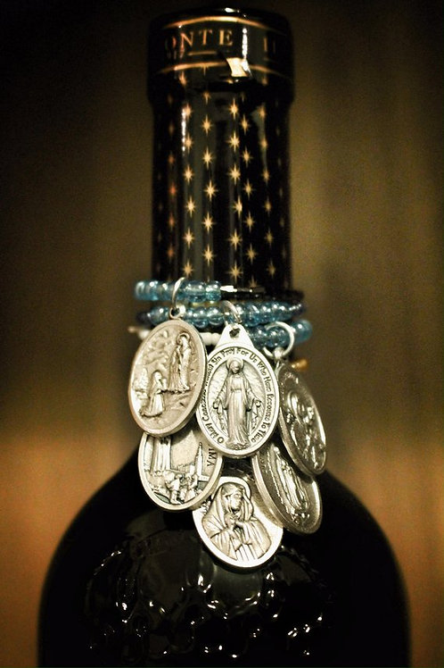 Names of Mary Saint Wine Charms- Set of 6