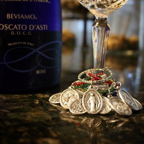Saint Wine Charms- Set of 4