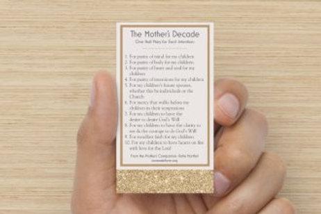 Mother's Decade Prayer Cards - Set of 20