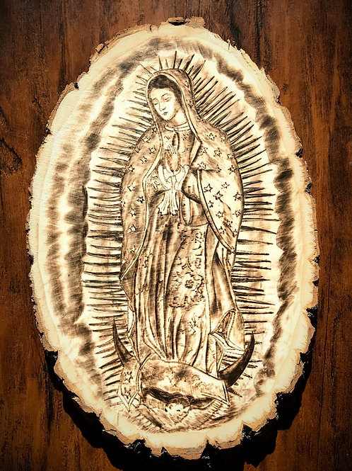 Our Lady of Guadeloupe- Woodburning