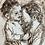 Thumbnail: St  Joseph Laughing With Baby Jesus Woodburning