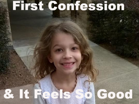 My 7 Year Old Writes About Her First Confession