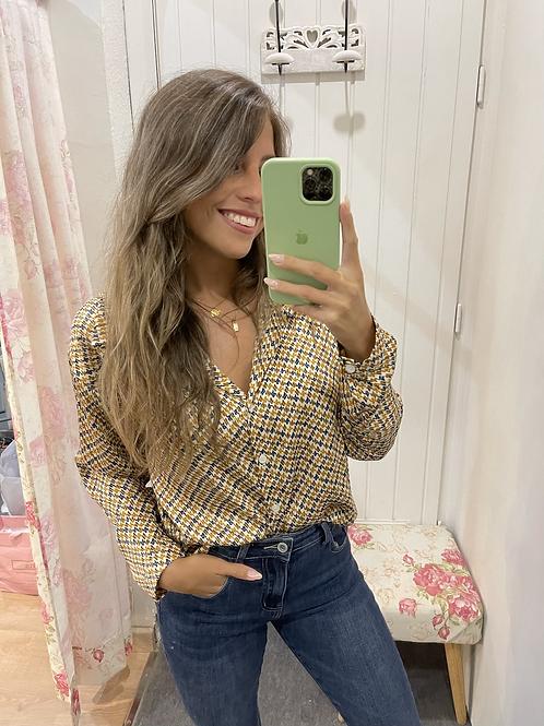 Camisa Cristina mostaza