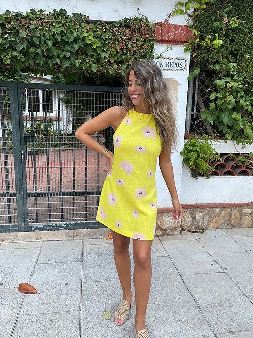 Vestido halter Lemon