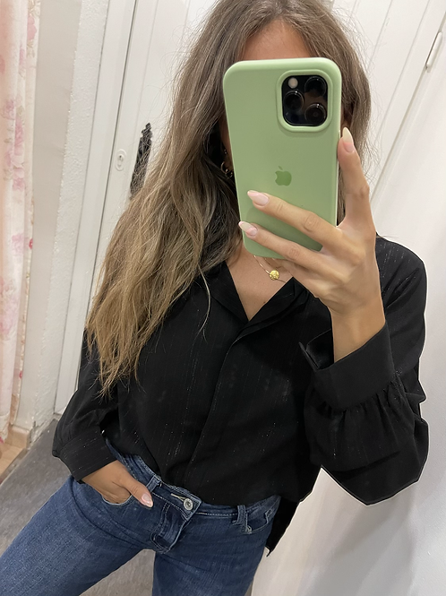 Camisa Sandrine negra
