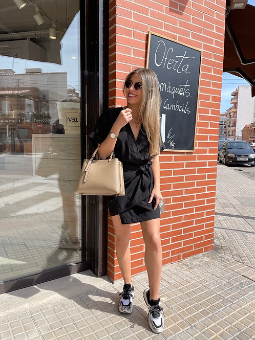 Vestido Village negro