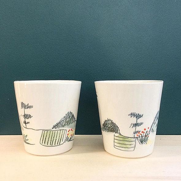 caroline prevost ceramiques porcelaine dessin illustration lille roubaix coulage email vase lifestyle arts de la table