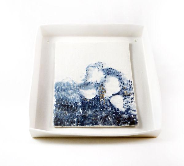 caroline prevost ceramique tableau paysage porcelaine poterie roubaix lille émail art ceramique contemporaine  broderie or ateliers jouret