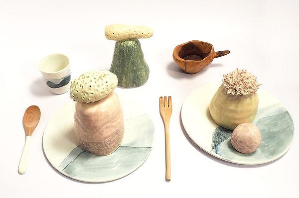 caroline prevost ceramique porcelaine cairns paysage sculptures arts de la table  ceramiste roubaix lille cours ateliers ateliers jouret