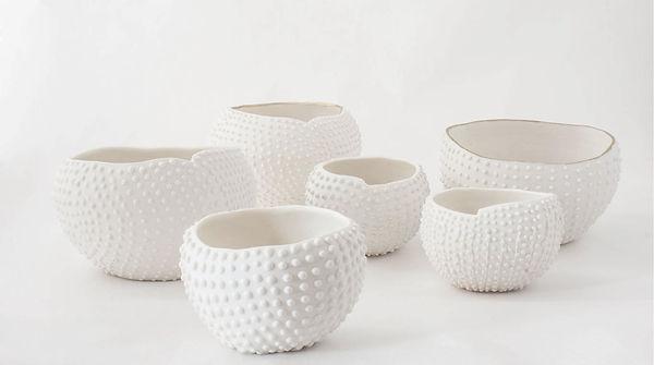 caroline prevost ceramique oursin porcelaine poterie roubaix lille émail art ceramique contemporaine  or ateliers jouret picot