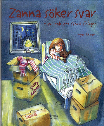 Boken Zanna söker svar – En bok om stora frågor av IngerEkbom. Illustrationer Cecilia Nabo. Konsladen.se