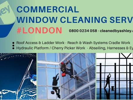 COMMERCIAL WINDOW CLEANING SERVICES LONDON