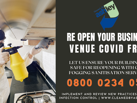 Reopening businesses in London - COVID cleaning services