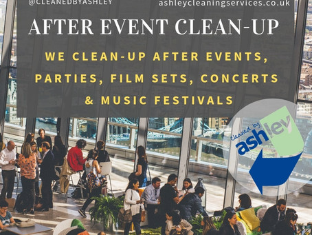 AFTER EVENT CLEANING IN LONDON