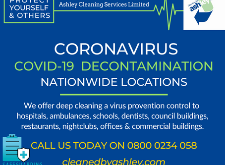 Coronavirus Cleaning Services & Decontamination Services