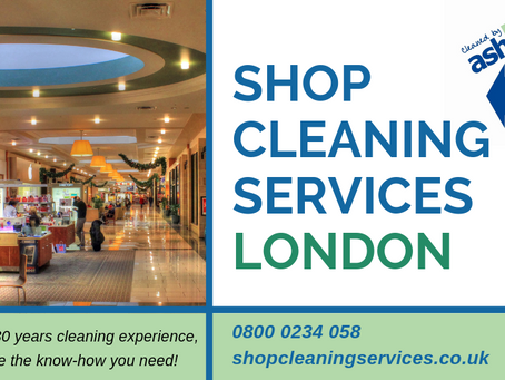 SHOP CLEANING SERVICES IN LONDON