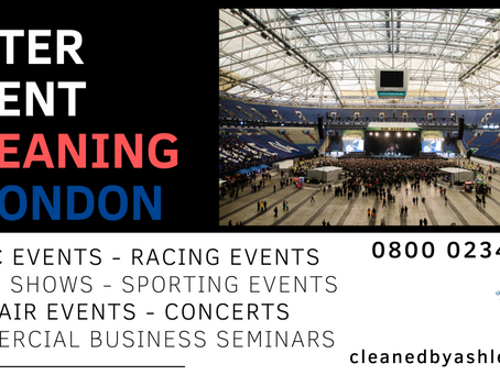 EVENT CLEANING SERVICES LONDON