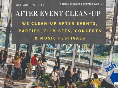 AFTER EVENTS CLEANING IN LONDON