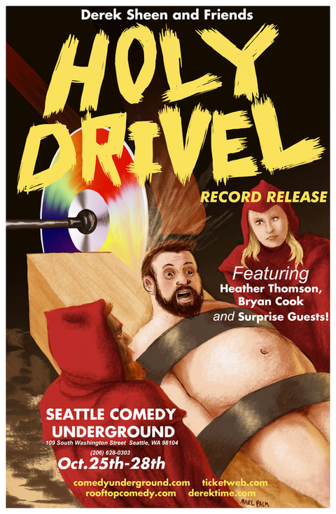 Holy Drivel Poster - Comedy Underground Seattle