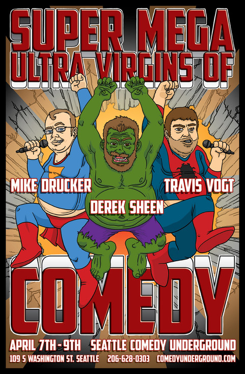 Virgins of Comedy Poster - Comedy UndergroundSeattle
