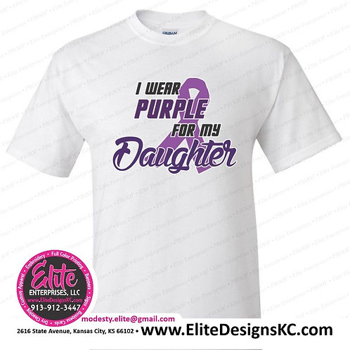 I wear purple for my daughter