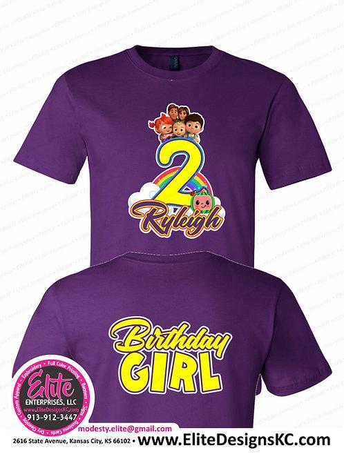 Cocomelon Birthday Shirts Front & Back Print 40466