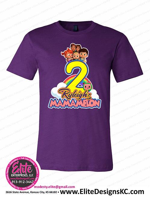 Cocomelon Birthday Shirts Front Print 40468
