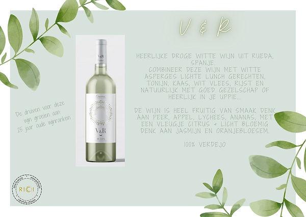 V&R witte droge wijn met een exotische f