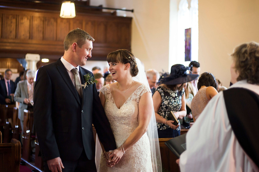 Bride and Groom church wedding Mawdsley