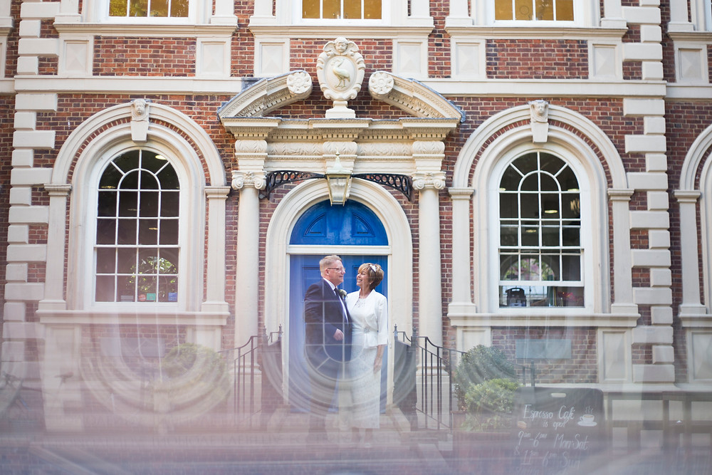 Bride and Groom at the bluecoat wedding Liverpool