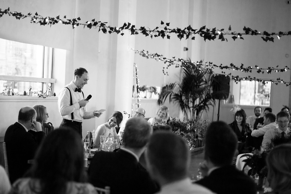 Speeches at Oh Me Oh My wedding
