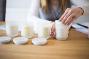 Behind the scenes candle making personal branding photography Liverpool