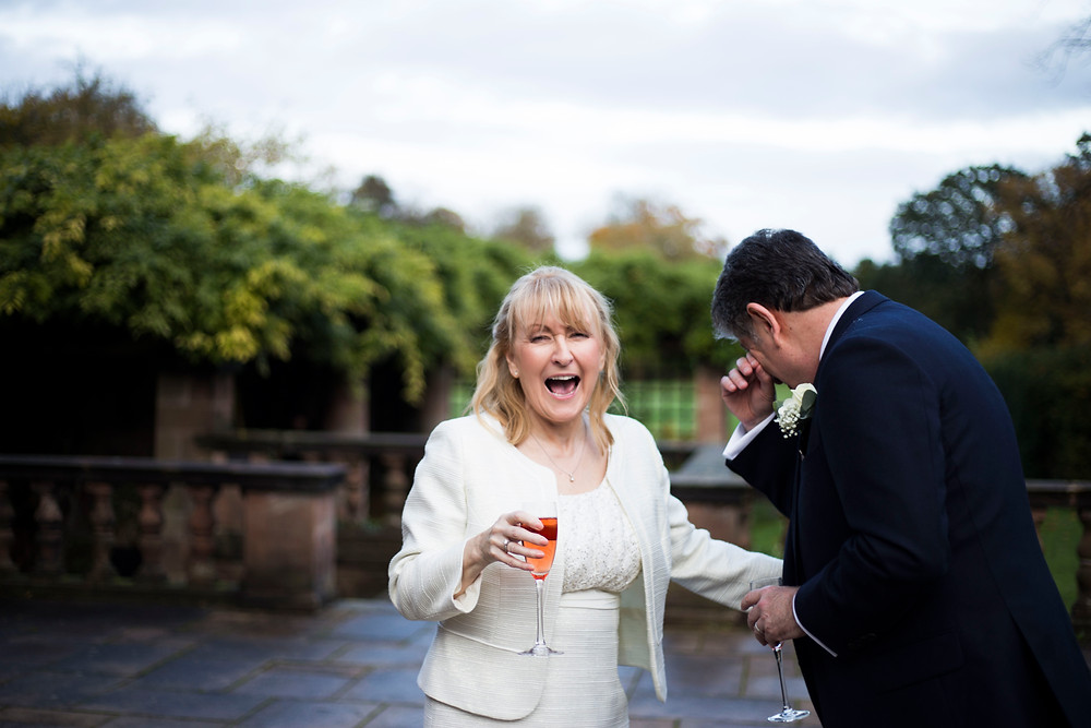 Bride and Groom laughing at Inglewood Manor Wedding