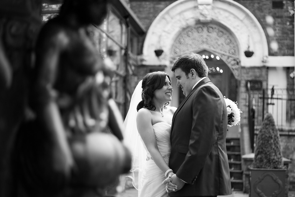 Bride and groom at sefton park Hallmark hotel wedding