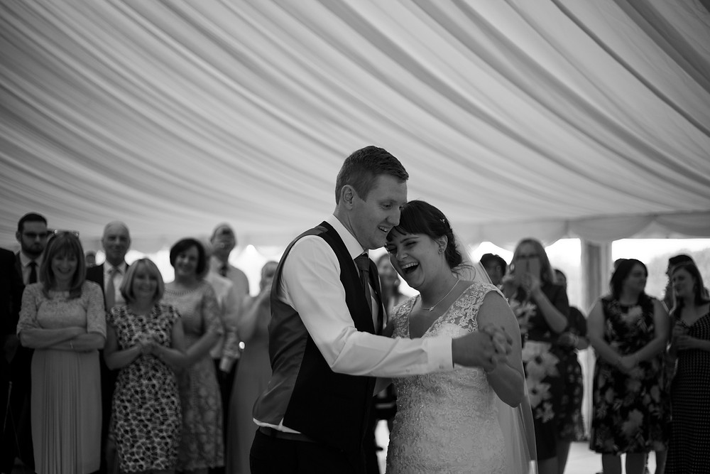 First dance marquee wedding PArr Hall Farm