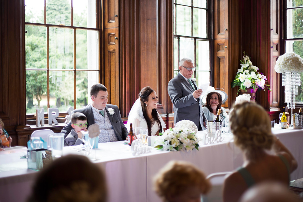 Speeches at Croxteth Hall wedding Liverpool