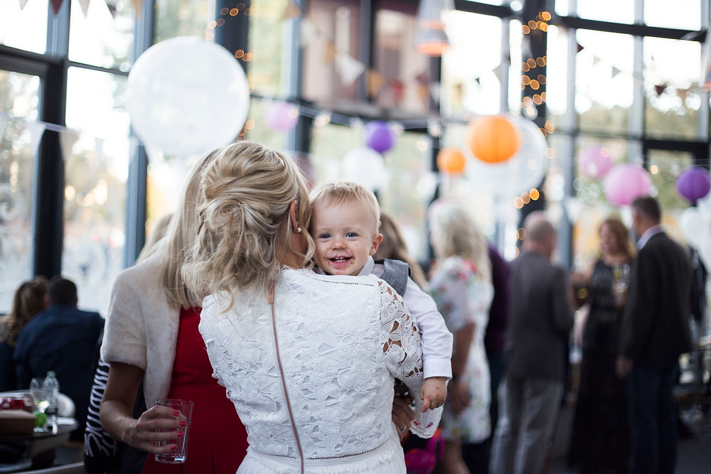 Bride and son at Siren Wedding Liverpool