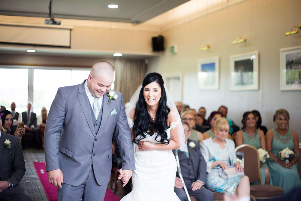 Laughter during Liverpool Cricket Club wedding ceremony