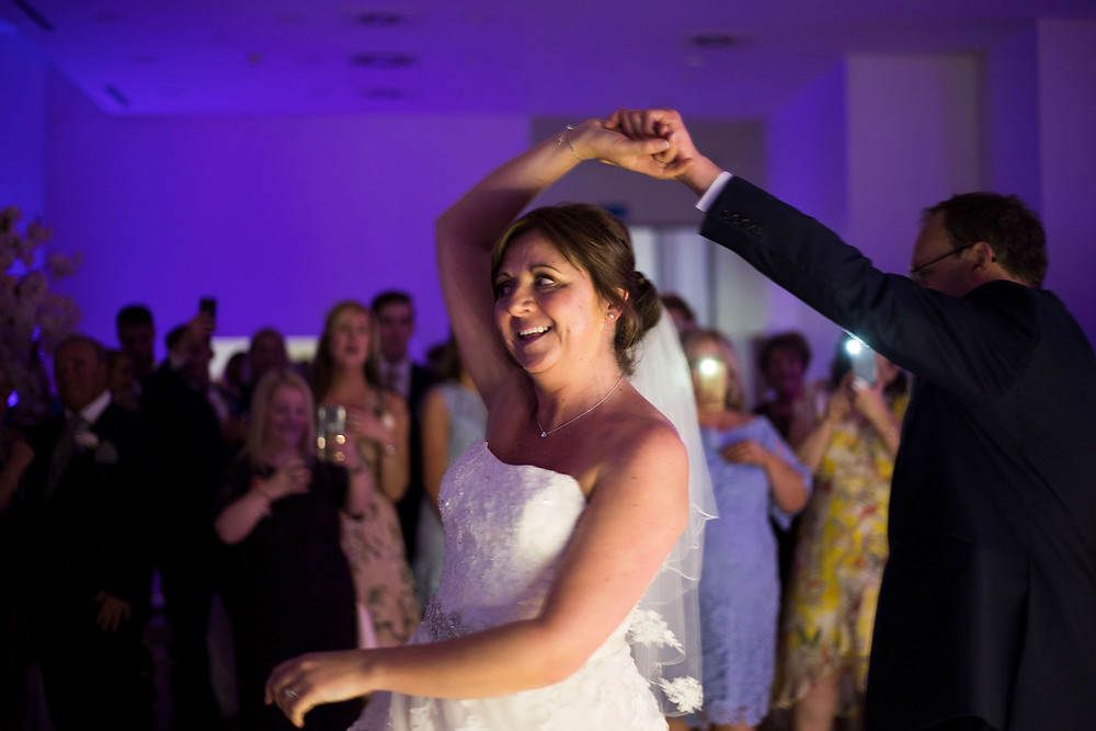 Bride and groom first dance Liver building wedding