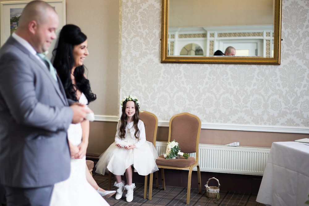 flower girl liverpool cricket club wedding