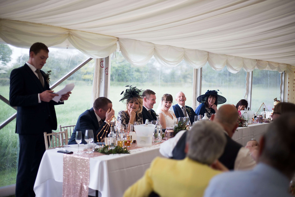 Best mans speech at Parr Hall farm wedding