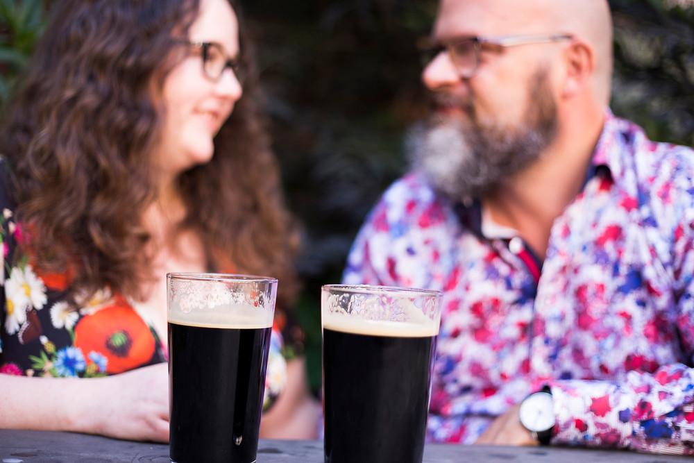 Pre wedding shoot pub crawl date night ideas