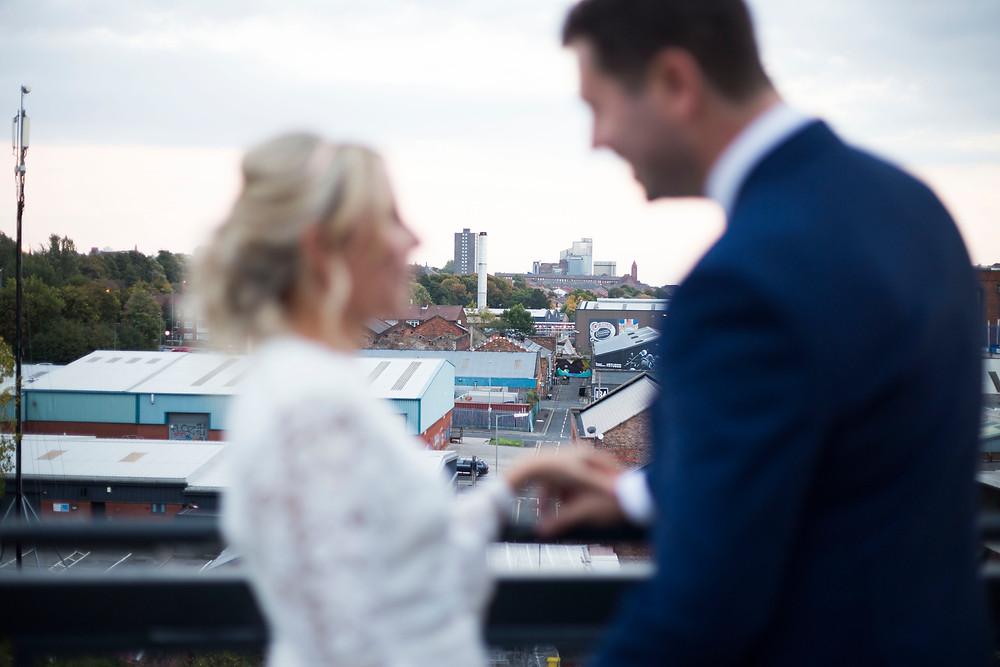 Bride and Groom on Siren Liverpool Terrace