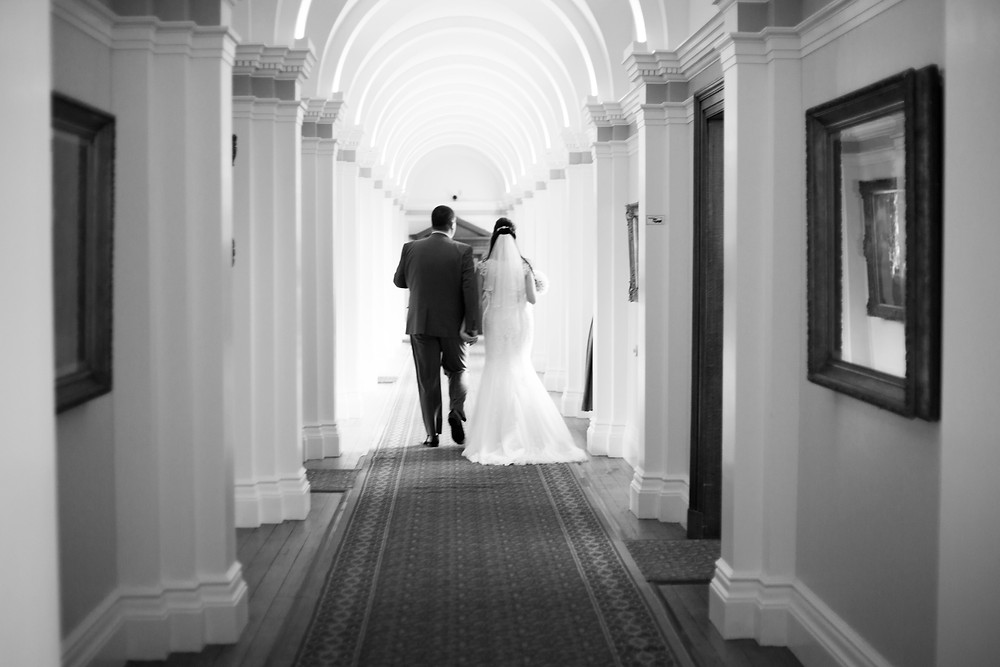 Bride and Groom at Croxteth Hall Wedding