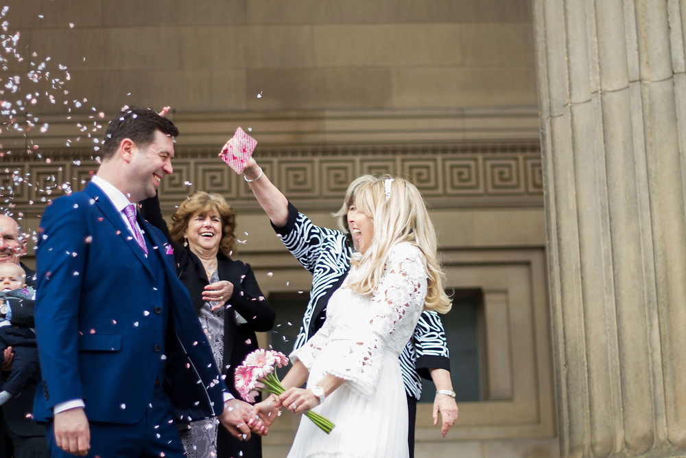 confetti at liverpool elopement